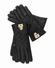 MICHAEL Michael Kors Quilted Leather Hamilton Lock Gloves, M