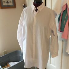 MAINSTREET COLLECTION MSC LADIES BUTTON UP SHIRT NYLON TOP BATHING SUIT COVERUP