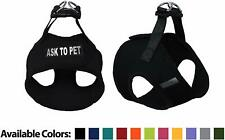 Ask To Pet Mesh Easy Step-In Padded Soft Puppy Pet Dog Harness Custom Patch