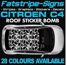 CITROEN C4 GRAPHICS STICKER BOMB ROOF DECALS STICKERS STRIPES 1.4 1.6 2.0 SKULL