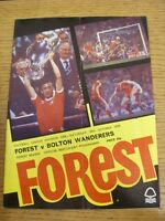 20/10/1979 Nottingham Forest v Bolton Wanderers  (Creased/Folded)