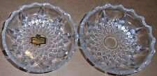 TWO VINTAGE KRISTAL ZAJECAR HAND CUT 24% LEAD CRYSTAL TRINKET DISHES / ASHTRAYS
