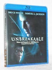 Unbreakable (Blu-ray, 2008) New sci-fi thriller Bruce Willis Samuel L. Jackson