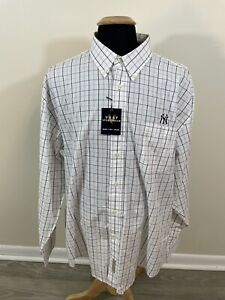 NEW NWT Vesi Sportswear Men's 2XL XXL Button Up Shirt New York Yankees MLB