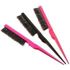 Pro Hairdressing Teasing Brushes Back Combing Hair Brush Plastic Handle