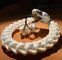 12mm China Handmade adjustable size white natural Snake bone Lucky bracelet