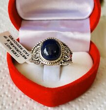 Sapphire 925 Sterling Silver Ring Size P