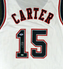 NEW JERSEY NETS VINCE CARTER AUTOGRAPHED SIGNED WHITE JERSEY PSA/DNA 141208