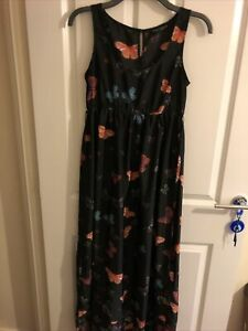 Black Long Butterfly Dress dorothy perkins 12
