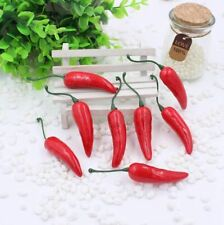 20pcs Artificial Plastic Red Chili Pepper Vegetable Pepper Home Decor Supplies