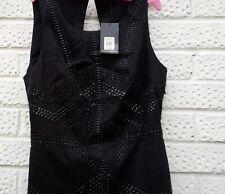 £95 OASIS Black Studded Dress. Embellished (Party, Dinner, Evening). S 10uk. New