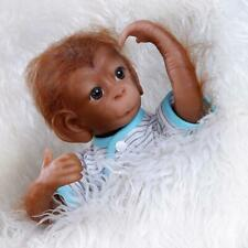 18in Baby Monkey Doll Silicona Reborn Baby Orangutan Dolls