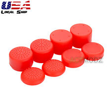 Red 8 Pcs Premium Silicone Rise Rocker Key Cap Grips for PS4 Xbox 360 Controller