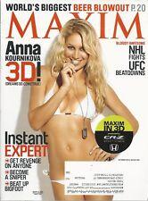 MAXIM MAGAZINE ~OCTOBER 2010~ANNA KOURNIKOVA 3D WITH GLASSES!~ COMPLETE MAGAZINE