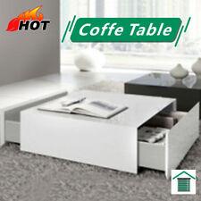 Elegant Square Coffee Table - White
