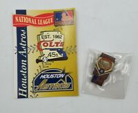 1994 Houston Astros National League Baseball Lapel Hat Pin Pinback & Info Card