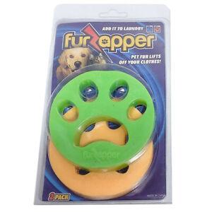 Pet Hair Remover Removes Puppy Dogs Cats Fur Zapper Catcher Tool Reusables 2PCS