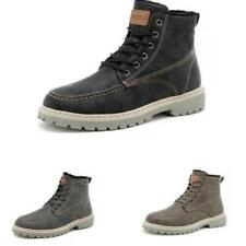 Mens Winter High Top Work Ankle Boots Shoes Outdoor Walking Sports Fur Inside D