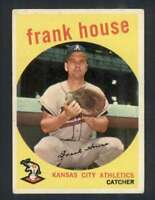 1959 Topps #313 Frank House VGEX Athletics 65191