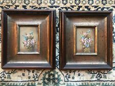 Antique watercolour paintings Still life / flowers signed Eules ?