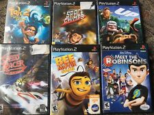 Lot Of 6 PlayStation 2 Video Games Speed Racer Bee Up Robinsons Space Chimps