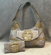 NEW GUESS GRAY NOELLA HOBO BAG HANDBAG WALLET 2PC SET