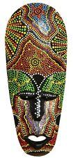 Schöne 25 cm Dot Paint Holz Maske Australien Wandmaske Handarbeit Bali Maske77