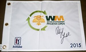 Phil MICKELSON Signed 2015 Waste Management Phoenix Open Flag - 3x Champion  PSA