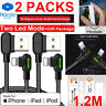 2 Pack 4 Ft Lightning Cable Heavy Duty iPhone X 8 7 6 5 Charger Charging Cord