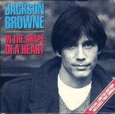 "JACKSON BROWNE in the shape of a heart DOUBLE PACK EKR 42F 7"" PS VG/EX/EX"
