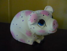 Big Eyed Pig Bank Ready to Paint Ceramic