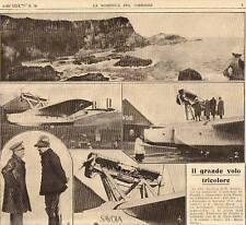 DOMENICA del CORRIERE 10/1927 DE PINEDO, VAL DI SCALVE