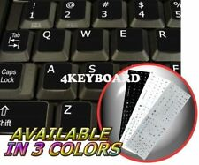 ENGLISH US NON-TRANS KEYBOARD STICKER BLACK ADD KEY