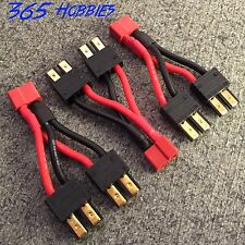 QTY-(3) 2-Male Traxxas to 1-Female Deans Parallel Adapter Connector Brushless