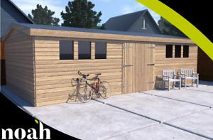 16x8 'Drummond' Garden Shed/Workshop/Garage. Bespoke-Heavy Duty-Wooden-Tanalised