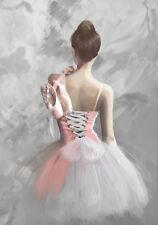 Ballet Ballerina Dancer Shoes Slippers Dance Art Quality Canvas Print A3