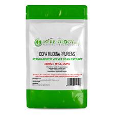 Dopa Mucuna Pruriens L-dopa Velvet Bean Extract 350mg x 30 - 120 Capsules