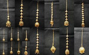 Indian Gold Plated Bridal Maang Tikka Head Tikka Matha Patti Express Shipping
