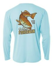 Long Sleeve Microfiber Upf 50 Fishing Shirt Vintage Redfish