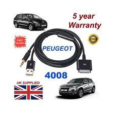 Câbles AUX et d'interface pour véhicule Peugeot