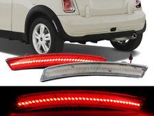02-08 Mini Cooper R50 R52 R53 Clear Red LED Rear Bumper Side Marker Lights S