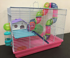 New 2 Floor Hamster Rodent Gerbil Mouse Mice Rat Critter Trail Habitat Cage 275