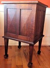 Rare Antique Arts & Crafts Cupboard/Cabinet/SideTable Quartersawn Oak Gold Fleck