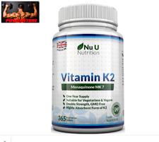Vitamina K2 MK-7, 200 mcg  - 365 Compresse - Scorta Per 1 Anno | Vegan | NO OGM