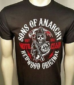 Sons Of Anarchy Red Motoclub Redwood Original Reaper Mens T Tee Shirt S-2Xl