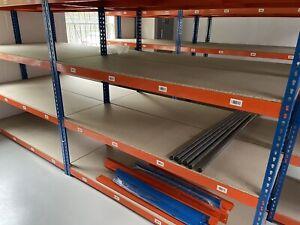 Garage Shelving 4 Tier 1.8m Boltless Workshop Storage Racking Shelves Unit