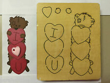 WOODEN DIE CUTTER-BILLY Bear, Use in Sizzix Big Shot, VERY RARE!!!