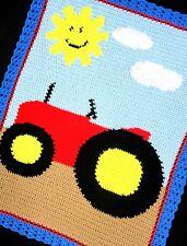 Crochet Patterns - Farm Tractor Afghan Pattern *Easy!