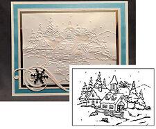 Village #3 Folder - Nellie Snellen embossing Folders PIF014 Christmas Holidays