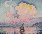 Paul Signac Pink Clouds Seascape Panting Print CANVAS Reproduction Small 8x10